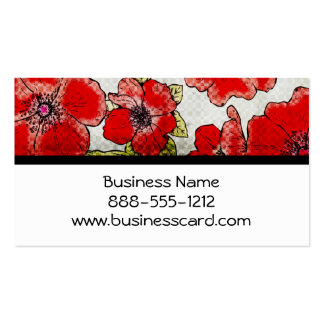 Red Floral Bliss Double-Sided Standard Business Cards (Pack Of 100)