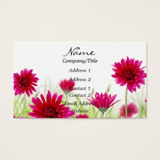 Red Floral Business Card
