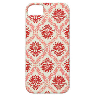 Red Floral Damask iPhone Case