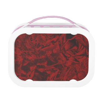 Red Floral Design Lunch Box