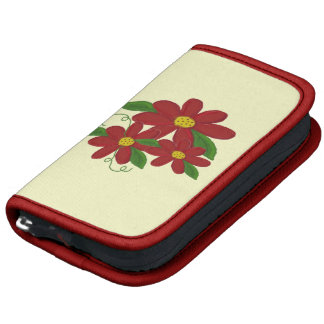 Red Floral Design Organizers