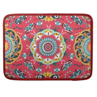 Red floral Design Sleeve For MacBooks