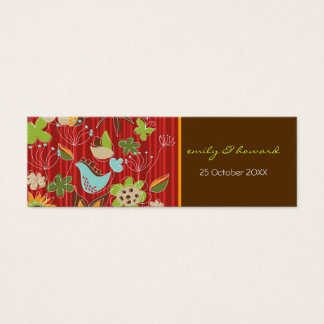 Red Floral Garden Profile Thank You / Gift Tag
