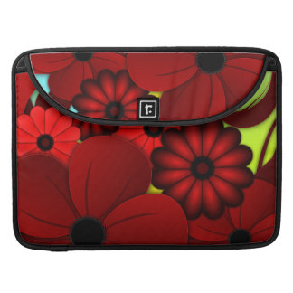 Red Floral Hibiscus 15 Inch Macbook Pro Sleeves