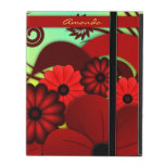 Red Floral Hibiscus iCase Powis iPad Case Cover