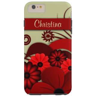 Red Floral Hibiscus iPhone 6 6S Plus Tough Cover