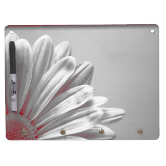 Red Floral Highlights Dry Erase Board