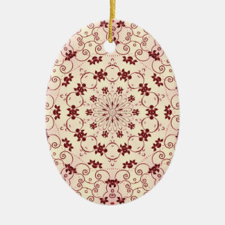 Red Floral Kaleidoscope Ornament