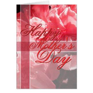 Red Floral Mother's Day Card