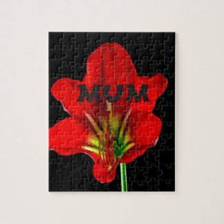 Red Floral Mum Jigsaw Puzzles