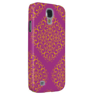 red floral ornament samsung galaxy 4 samsung galaxy s4 case