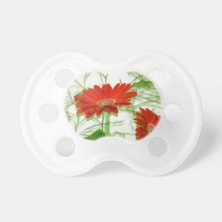 Red Floral Baby Pacifier