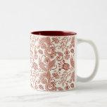 Red Floral Pattern Mug