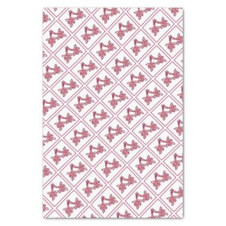 "Red Floral Pattern Tissue Paper 10"" X 15"" Tissue Paper"
