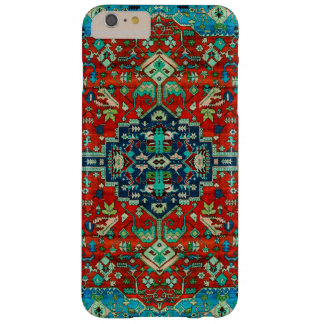 Red Floral Persian Carpet Motive Barely There iPhone 6 Plus Case