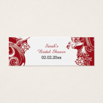 red floral Personalized Gift Tags