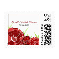 red floral Personalized Stamps