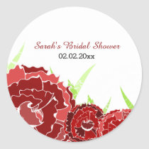 red floral Personalized stickers