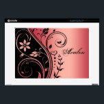 "Red Floral Scroll 15&quot; Laptop Skin<br><div class=""desc"">Add a touch of elegance to your laptop with our Red Floral Scroll 15&quot; Laptop Skins. See more great styles at TheInspiredEdge.com</div>"