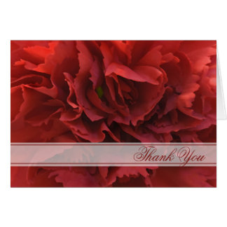 Red Floral Thank You Card