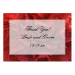 Red Floral Thank You Wedding Favor Tags Large Business Cards (Pack Of 100)
