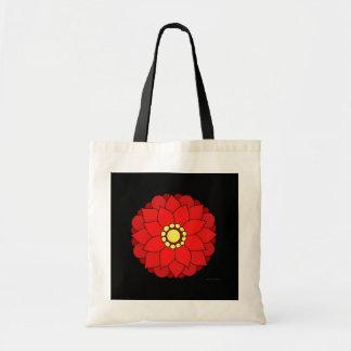 Red Floral V2 Tote Bag
