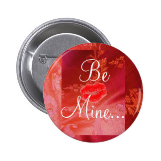 Red Floral Valentine II Button - Customizable