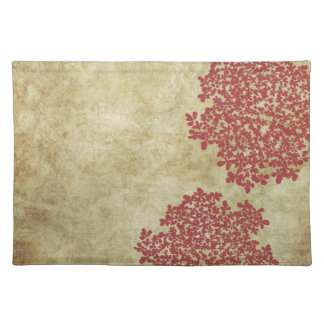 Red Floral Vintage Cloth Placemat