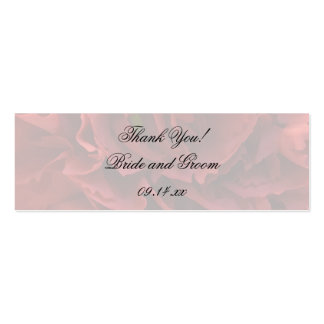 Red Floral Wedding Favor Tags Business Cards