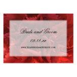 Red Floral Wedding Website Large Business Cards (Pack Of 100)
