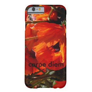 red floral with carpe diem barely there iPhone 6 case