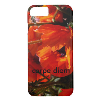red floral with carpe diem iPhone 8/7 case