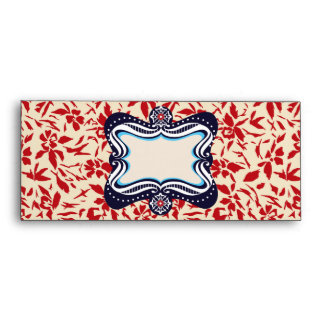 Red Florals Envelope