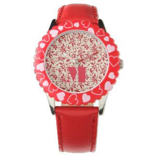 Red Florals Wrist Watch