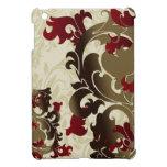 red flourish girly Ipad case iPad Mini Cover
