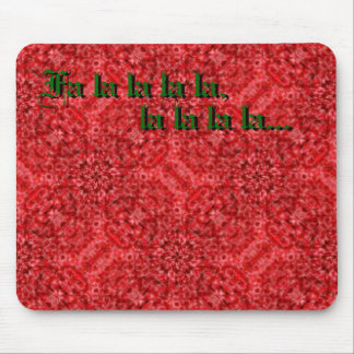 Red Flow Kaleidoscope Mouse Pad