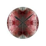 Red Flow Pattern Round Clock
