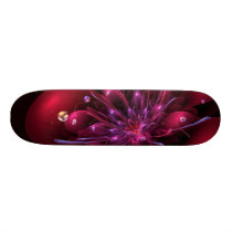 Red flower 3d - fractal impression. skateboard