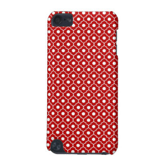 Red Flower Argyle Pattern 2 iPod Touch Case