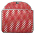 Red Flower Argyle Pattern Macbook Pro With Flap MacBook Pro Sleeves