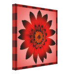Red Flower artwork - Wrapped canvas Canvas Prints