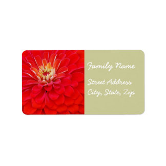 Red Flower Avery Label
