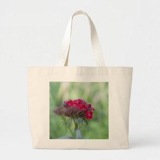 Red flower jumbo tote bag