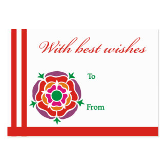 Red flower best wishes card business card