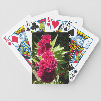 Red Flower Bicycle Playing Cards