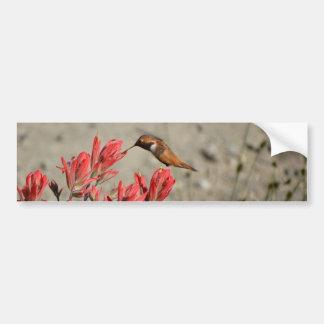 Red flower bird bumper sticker