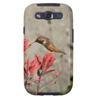 Red flower bird galaxy s3 covers