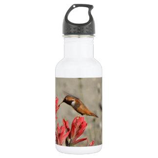 Red flower bird 18oz water bottle