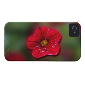 Red Flower Blur iPhone 4 Case-Mate Case