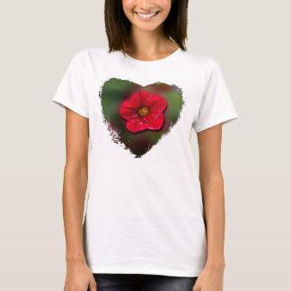 Red Flower Blur T-Shirt